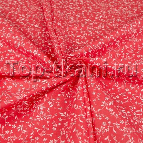 Перкаль набивной - Твигги (на красном) ширина 150 см