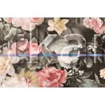 Перкаль набивной - Утро в цветочном саду (ширина 220 см)