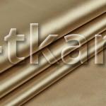 Плательный атлас стрейч Темно-песочный