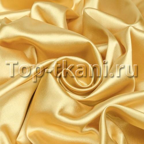 Плательный атлас стрейч Золотистый