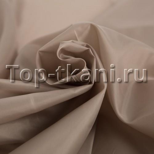 Подкладочная ткань - Таффета (светло-коричневая)