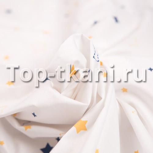 Лоскут Поплин набивной - Космо старс (70 см * 220 см)