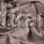 Поплин набивной - Какао с молоком (горошек, ширина 220 см, пр-во Азербайджан)