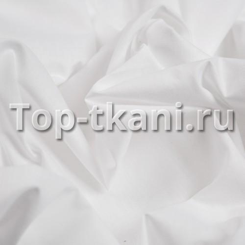 Поплин г/к - Отбеленный (белый, ширина 220 см, пр-во Азербайджан)
