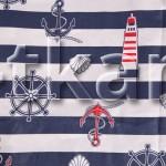 Поплин набивной - Свет маяка