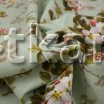 Рогожка - Цветы на зеленом (ширина 150 см)