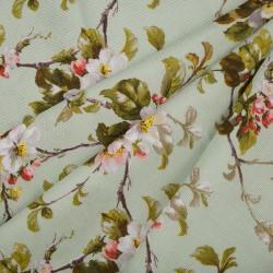 Лоскут Рогожка - Цветы (0,68 м * 1,5 м)