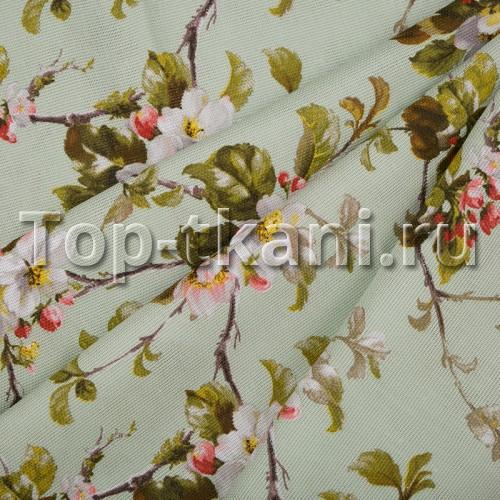 Лоскут Рогожка - Цветы (30 см * 150 см)