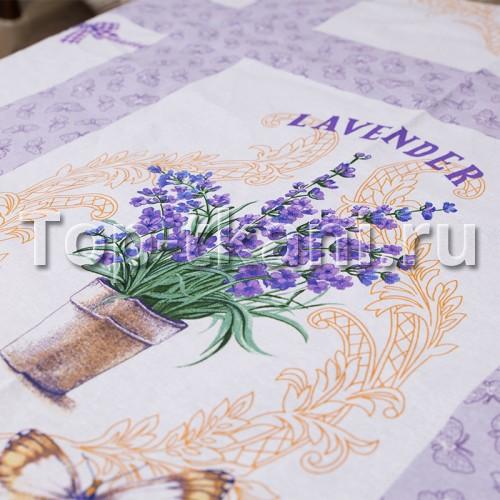 Лоскут Рогожка - Лаванда (120 см * 150 см)