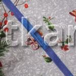Рогожка - Новый год (ширина 150 см)