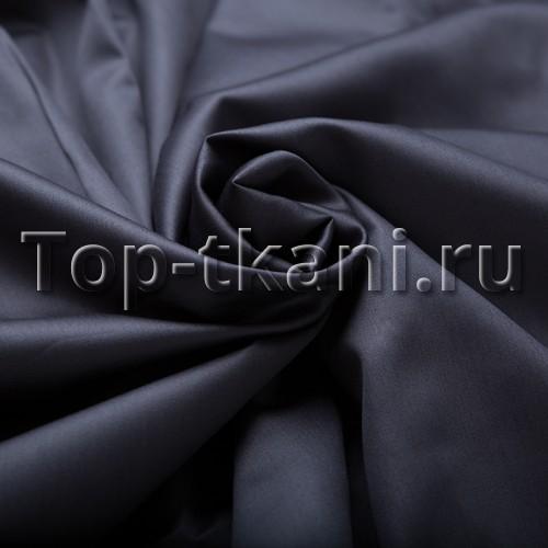 Сатин г/к - Графит (мерсеризованный, ширина 228 см, пр-во Азербайджан)