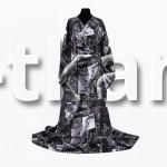 Сатин Соренто - Столицы мира (Black) (мерсеризованный, ширина 228 см, пр-во Пакистан)