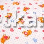 Лоскут Ситец детский набивной - Тедди (100 см * 95 см)
