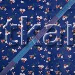 Ситец набивной - Цветочки на синем (ширина 150 см, 100% хлопок)