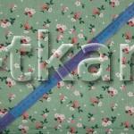 Лоскут Ситец набивной - Цветочки на зеленом (120 см * 80 см)