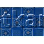 Ситец набивной платочный - Узоры на синем (ЦЕНА УКАЗАНА ЗА ОТРЕЗ 30 СМ * 135 СМ)