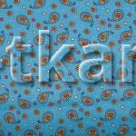 Ситец набивной - Восточные огурцы на голубом (рисунок мелкий, ширина 80 см)