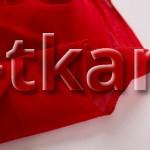 Ситец (ВНИМАНИЕ!!! ТКАНЬ КАК МАРЛЕВКА, НЕ ПЛОТНАЯ, ПОЛУПРОЗРАЧНАЯ) г/к разреженный (красный) - Алые паруса (ширина 80 см)